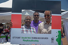 CEO - Mohamed Awer with Kenya Scout CEO and KFS Rep at the Launch of #KeepKenya Breathing
